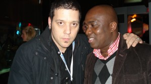 Publisher of TAN -News  Honore Gbedze CBC host George Stroumboulopoulos