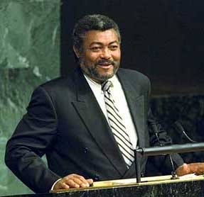 Ex-President Jerry Rawlings of Ghana