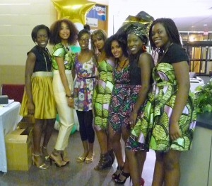 Third Left is Adejoke Taiwo   Fashion Show co-ordinator  along with her Models