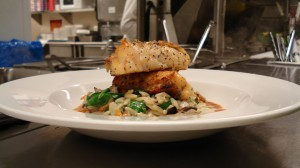 Grilled Cedar Planked Red Snapper with Orzo Florentine By Chef Honore Gbedze