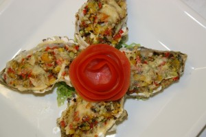 Oyster Farcie Gratinée By Chef Honoré Gbedze