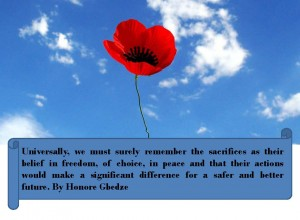 Notes on Remembrance Day