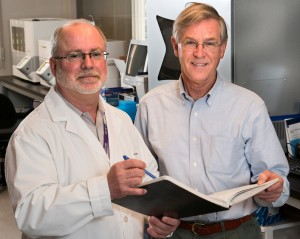 Dr. Randy Gascoyne, left, and Dr. Joseph Connors, right, Co-Directors of the BC Cancer Agency's Centre for Lymphoid Cancer.