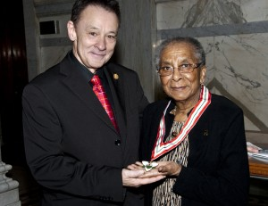 Wilma Morrison, 82, was born in London, Ontario is a historian/curator who co-founded the Brock/Niagara African Renaissance Group