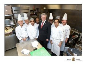 Hilton  Vancouver Chef Team with The Right Honourable Stephen Joseph Harper - Prime Minister of Canada