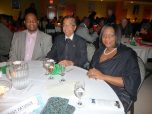 Calgary News second left- Kenney Husband- Pres. of St. Lucia Association right Consul Mtonya A,G. Deterville