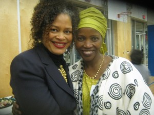 Jane Rukaria with Commissioner Constance Barnes at the City of Vancouver Parks Board Remarkable Women 2011 Awards celebration