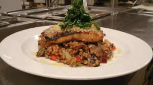 Afric Spring Wheat with Grilled West Coast Sockeye Salmon By Chef Honoré Gbedze