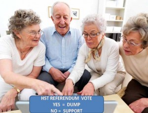 HST REFERENDUM : VOTE YES = DUMP ! VOTE NO = SUPPORT