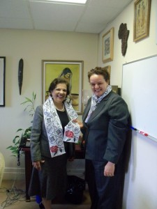 Senator Jaffer with Jenni Williams who is the executive director of Women Arise Zimbabwe!