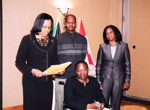 Installation of Wilma by High Commissioner of Jamaica
